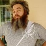 Patrick Rothfuss in Litographs' Swordspoint T-Shirt