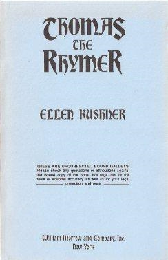 Thomas the Rhymer, Uncorrected galley proof cover