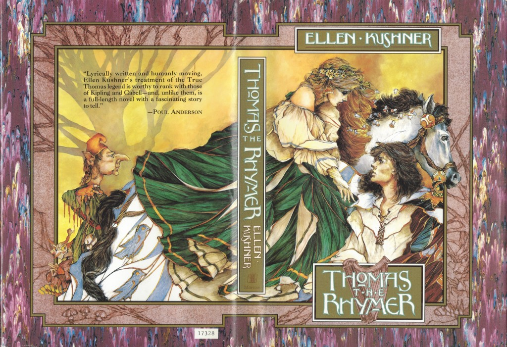 Thomas the Rhymer, William Morrow and Company (1990), art by Thomas Canty (front/back spread)
